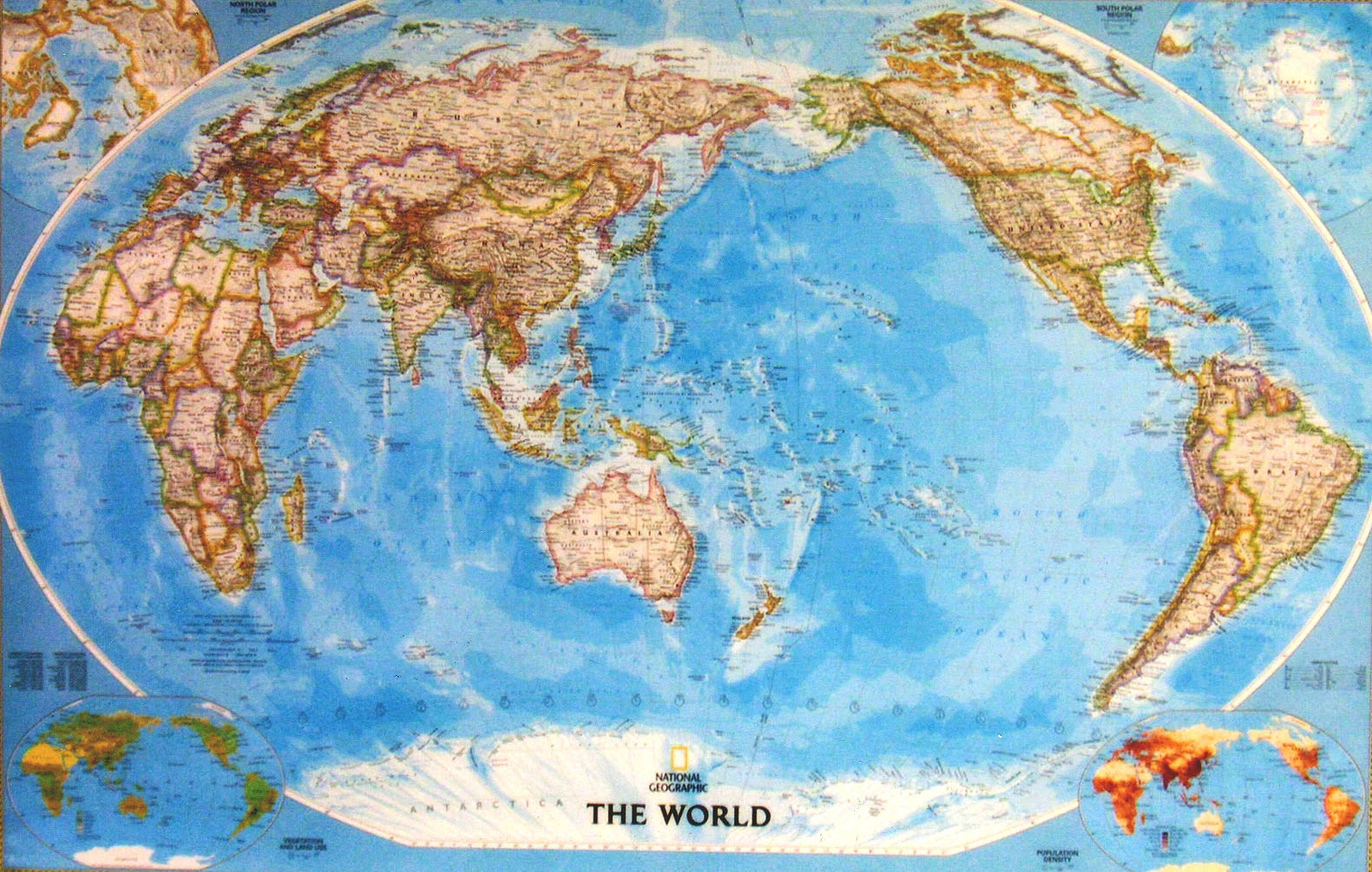 Mapco trading products services laminated hema nat geo world map classic pacific centre size 46x 30 retails price s4200 wgst sciox Images