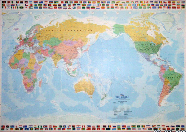 Mapco trading products services laminated world map flags ups hk chineseenglish version gumiabroncs Image collections