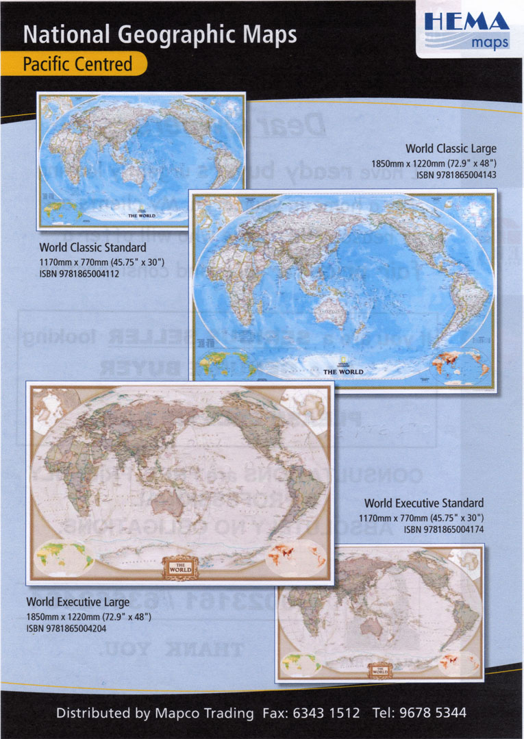 Mapco trading products services laminated hema national geographic maps pacific centred gumiabroncs Image collections